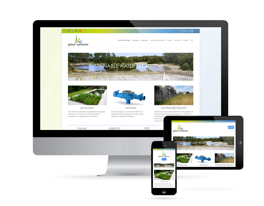 Global Wetlands website mockup