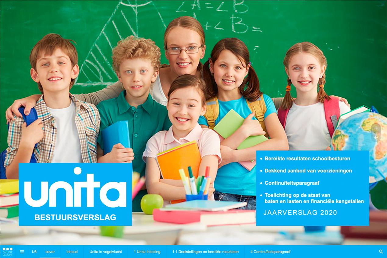 Unita bestuursverslag 2020 cover