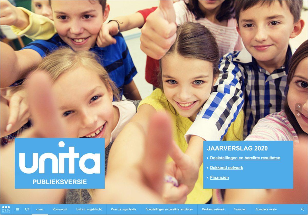 Unita jaarverslag publieksversie 2020 cover